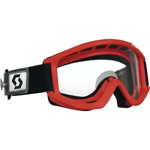 Scott USA RECOIL Xi SPEED STRAP Goggles RED/CLEAR Lens AFC 217797