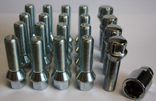 M14 X 1.5 TAPERED 40MM ALLOY WHEEL BOLTS /& LOCKING FIT VAUXHALL MOVANO VIVARO