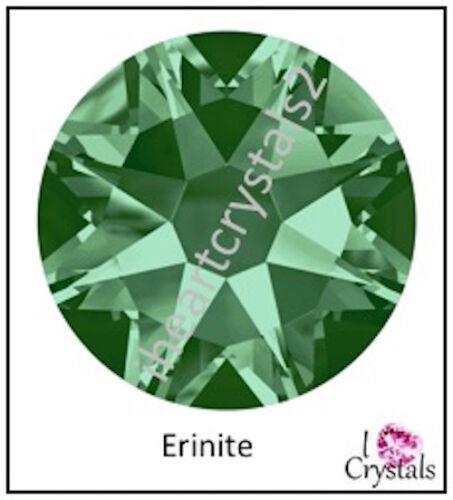 ERINITE Green Swarovski 2mm 7ss Crystal Flatback Rhinestones 2058 144 pcs Nail