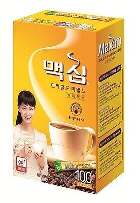 Maxim Mocha Gold Mild Coffee Mix Instant 100 Pcs Stick Instant Korean