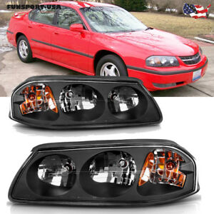 Image Is Loading For 00 05 Chevy Impala Black Housing Amber