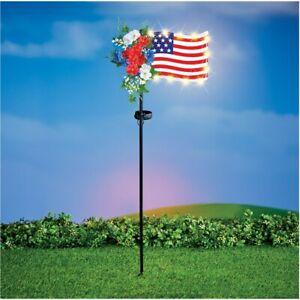 Solar-Powered-Floral-USA-American-Flag-Memorial-Day-Cemetery-Garden-Stake