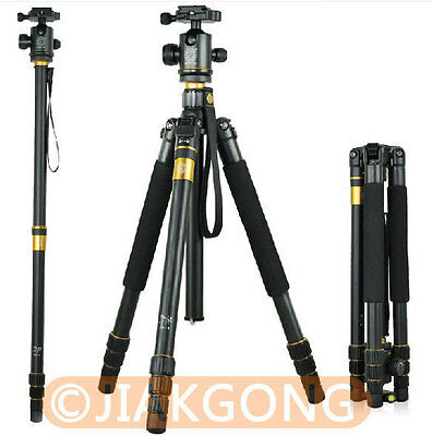 Pro Portable Aluminium Alloy Tripod Monopod+Ball Head+Pocket Kit Q999 Q-999