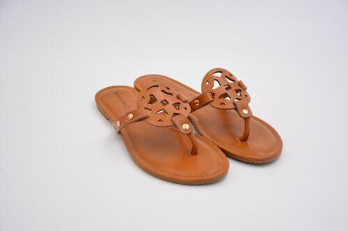 Pierre Dumas Women/'s Limit-20 Thong Sandal Tan US 8.5 USED