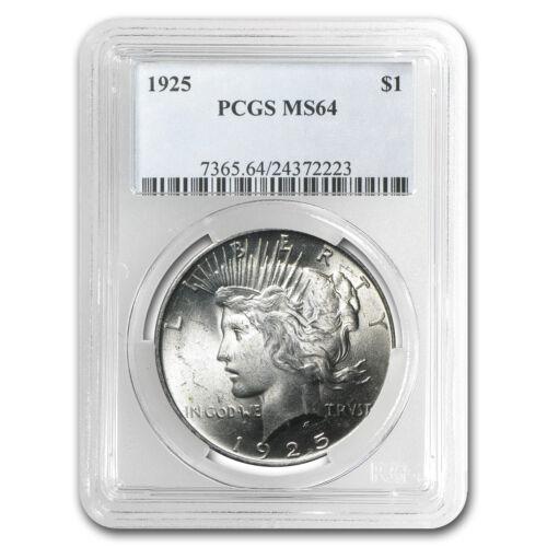 SKU #24829 1925 Peace Dollar MS-64 PCGS