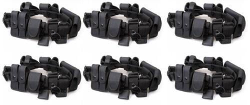 6 Police Security Guard Modular Enforcement Equipment Duty Belt Tactical Nylon