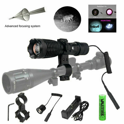 NV Illuminator IR Focusing Night Vision LED Flashlight Hunting Torch Scope Mount