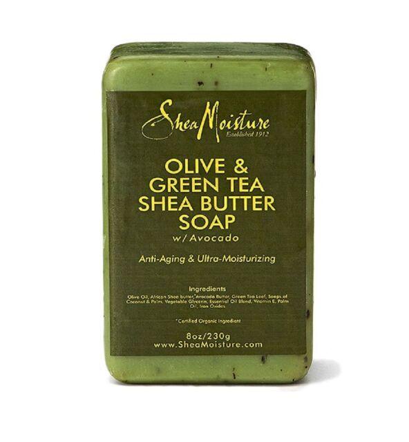 Shea Moisture Olive - Green Tea Shea Butter Bar Soap 8 oz