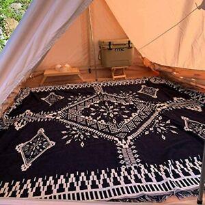 L-XX Large Reversible Tribal Indian Cotton Throw Blanket Aztec Decorative Rug