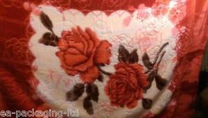 Double-flower-rose-print-blanket-high-quality-soft-plush-bedding-winter-throw