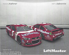 "2016 KASEY KAHNE / TERRY LABONTE ""DARLINGTON THROWBACK "" #5 NASCAR POSTCARD"