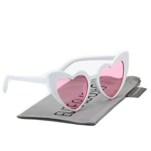Vintage Retro Womens Plastic Cat Eye Heart Shape Hippie Party Shade Sunglasses