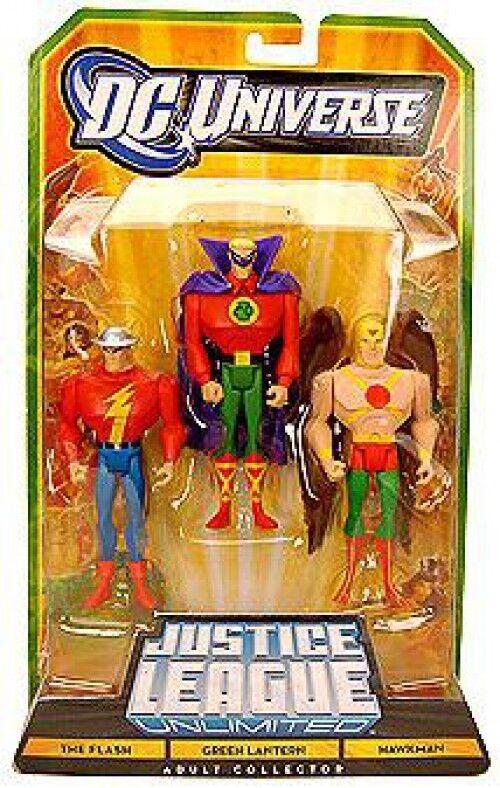 Justice League Unlimited The Flash, verde Lantern & Hawkman Action Figures