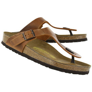 ed6b3b69d4d6 Image is loading Birkenstock-Oiled-Leather-Gizeh-Antique-Brown-BNIB-743781-