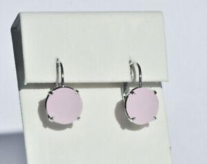 Echt-925-Sterling-Silber-Ohrringe-mit-Zirkonia-rosa-rose-Hochzeit-Nr-101