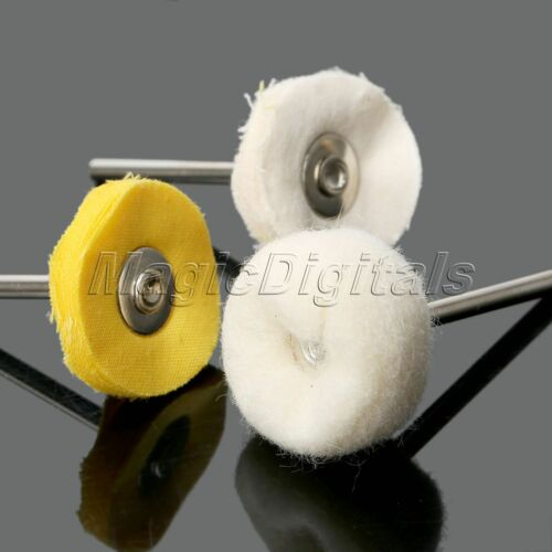 25mm Wool Cloth Polishing Buffing Wheel Brushes Set  Grinder Rotary Tools 50pc