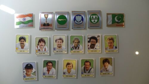 PANINI Cricket 83 1983 17 autocollants