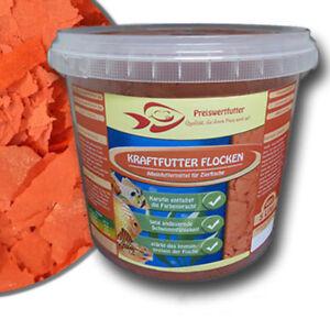 Kraftfutter-Farbfutter-Flocke-5-Liter-Eimer-800-g-Fischfutter-Futter-Fische