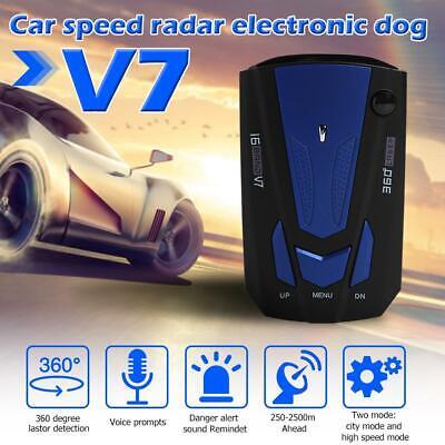 Russian Voice Alert 360 Degree Car Speed Police Safe Radar Detector English