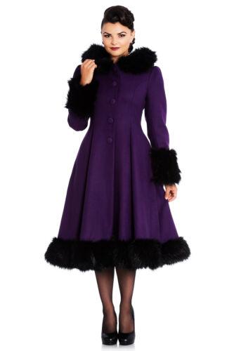 Hell Bunny Elvira Mantel Übergröße Lila schwarz XL 2XL 3XL 4XL 44 46 48 50 52