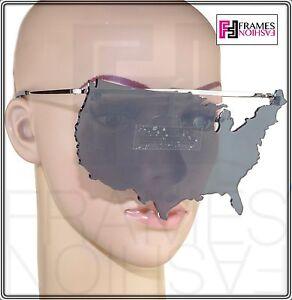 ab645962b2fb Image is loading LINDA-FARROW-Jeremy-Scott-USA-MAP-Sunglasses-Fashion-