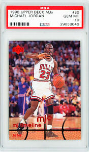 MICHAEL-JORDAN-1998-Upper-Deck-MJx-30-Basketball-Card-Perfect-PSA-10-Grade-Card