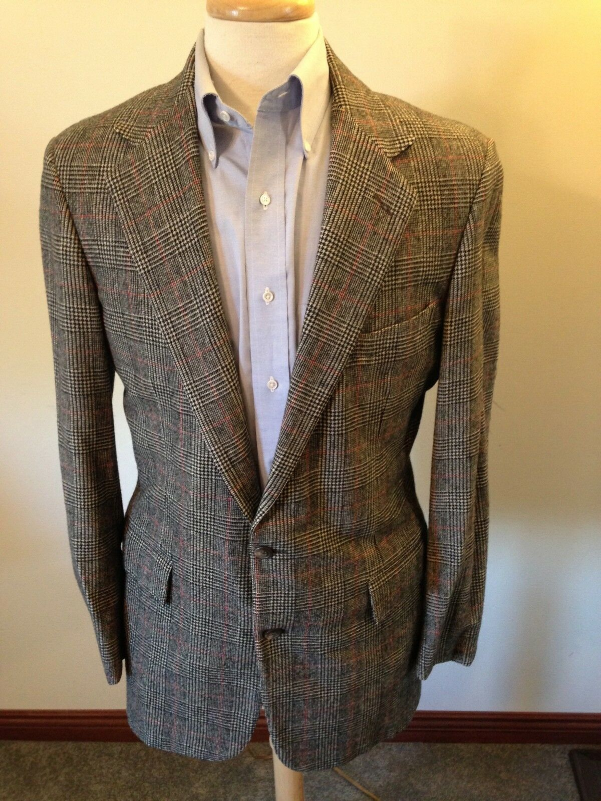 Mens Ralph Lauren Polo Glen Plaid Wool Two-Button Sport Coat-40L