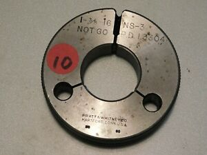 "USA Go and No Go Thread Ring Gage Set 1-3//4/"" x 16 NS 2"