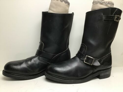 VTG MENS BRAHMA STEEL TOE ENGINEER BLACK BOOTS SIZ