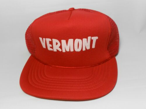 Vintage Vermont Travel Tourist Trucker Mesh Snapba
