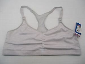 new-HANES-Bra-Women-039-s-Size-XL-Comfort-Unlined-Gray-Lace-Racerback-Bralette