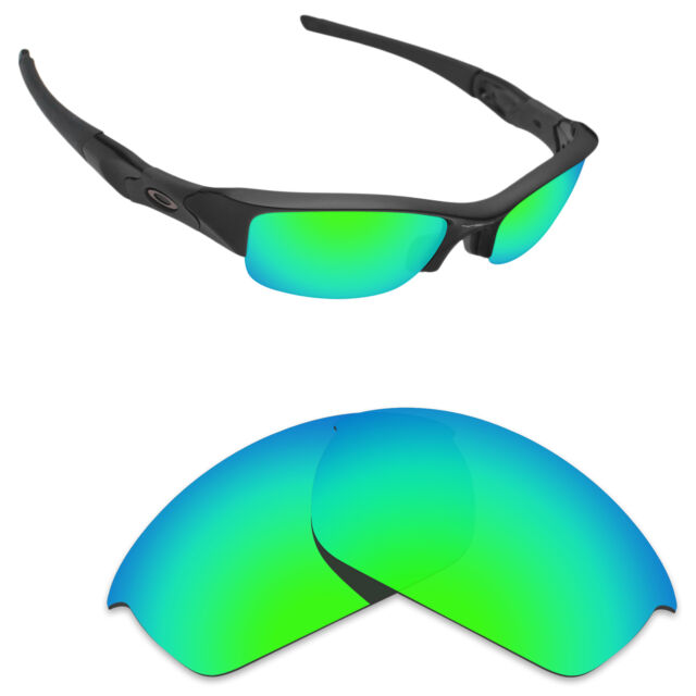 63fe45b197 Hawkry Polarized Replacement Lenses for-Oakley Flak Jacket Sunglass Green