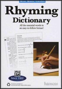 Contemplatif Mini Musique Guides Rimes Dictionnaire Auteurs-compositeurs Livre De Référence-afficher Le Titre D'origine éLéGant Dans Le Style