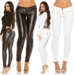 KouCla-Wetlook-Pantalon-Pantalon-Femmes-avec-zips