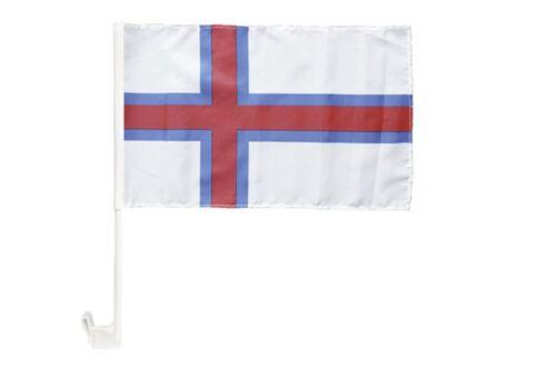 Färöer-Inseln Autofahne Autoflagge Fahnen Auto Flaggen 30x40cm