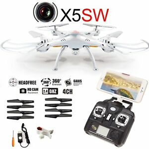 Dron X5SW- Wifi FPV 2.4Ghz RC Quadcopter Drone with 720P HD Camera RTF UAV Hover