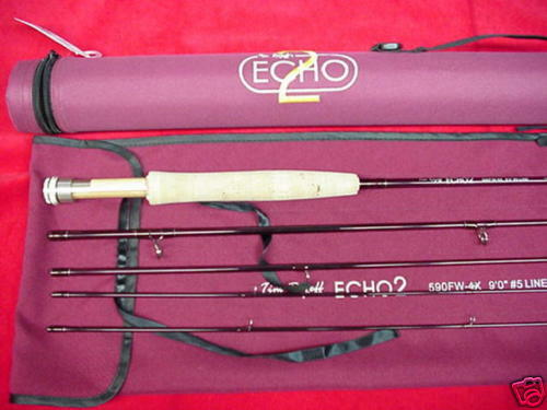 Echo II Fly Rod 9ft  5 Line GREAT NEW