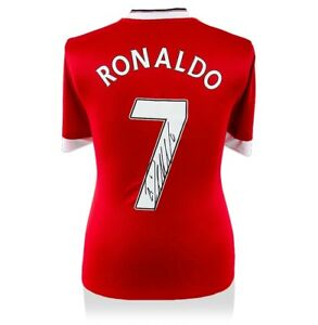 sports shoes 29433 4c9d7 Details about Cristiano Ronaldo Signed Manchester United Shirt - Number 7  Autograph Jersey
