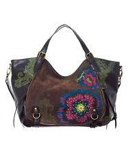Desigual Black & Green Floral Rotterdam Saddle  Bag NWT
