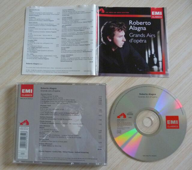 CD ALBUM GRANDS AIRS D'OPERA ROBERTO ALAGNA 16 TITRES 2003