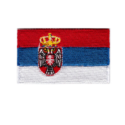 """Flag of Serbia Iron On Patch 2 1//2/"""" x 1 1//2/"""" Free Ship Envelope Mail"""