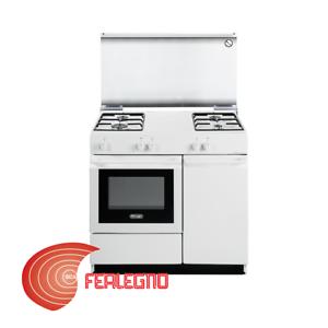 Cucina bianca 86x50cm 4 fuochi a gas forno a gas e vano bombola sgw854n delonghi ebay - Bombola gas cucina prezzo ...