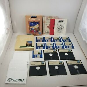 """Quest for Glory II Trial by Fire **Sierra** PC 5.25"""" & 3.5 Big Box Action RPG"""
