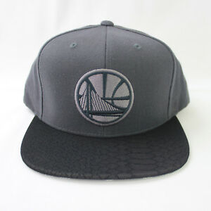 new products 88cd6 31abc Image is loading Mitchell-Ness-NBA-Golden-State-Warriors-Hologram-Brim-