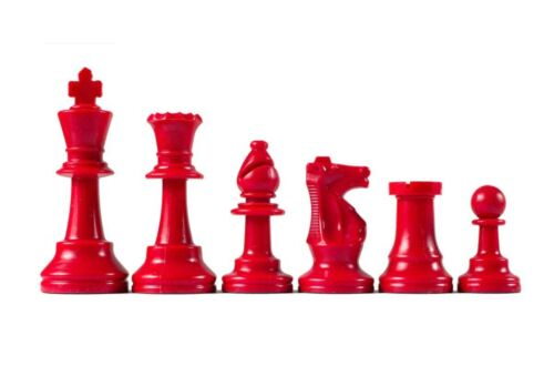 Red Wholesale Chess Triple Weighted Staunton Colored Pieces