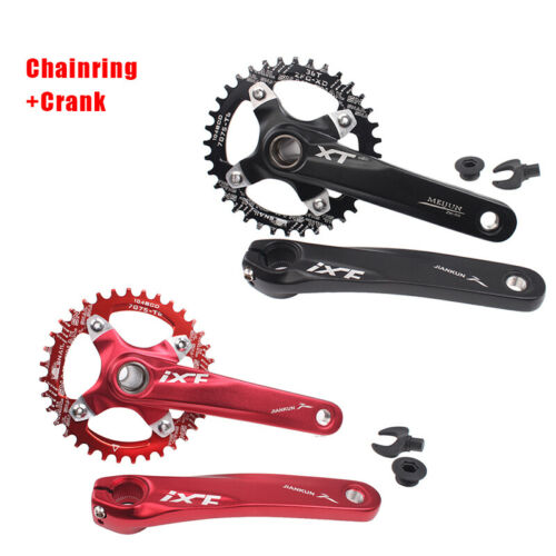170mm MTB Bike Crankset 104bcd Crank Narrow Wide Round//Oval 32T-42T Chainring US