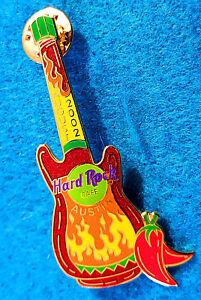Austin-Tessuto-Rosso-Hot-Peperoncino-Pepe-Salsa-Bottiglia-Aug-2002-Chitarra-Rock