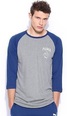 Puma Solid Mens Round Neck Grey T-Shirt  - COH -7861