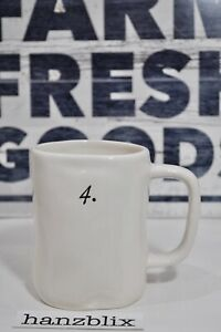 Rae-Dunn-Mug-4-Number-Mug-Collection-NEW-RARE-HTF-2018