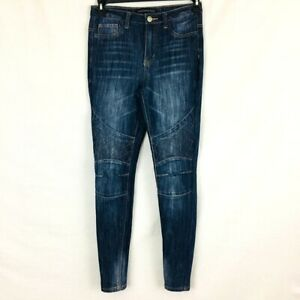 Women-039-s-Rue21-Skinny-Distressed-High-Rise-Moto-Jeans-Size-4